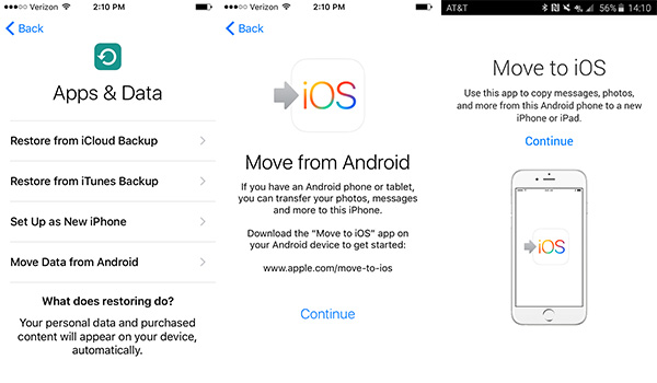installierte apps auf neues handy iphone übertragen