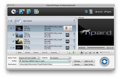 Laden der DVD-Dateien