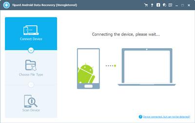 Verbinden Sie das Android Gerät mit der Android Daten Wiederherstellung