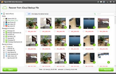 Starten Sie eine Vorschau der iCloud Bilder