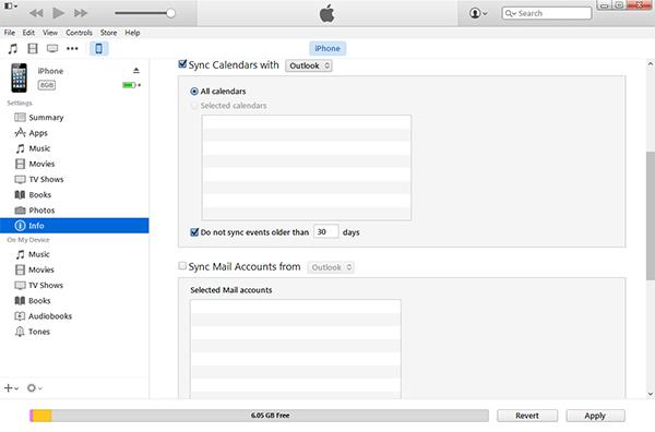 Synchronisieren von Outlook Kalendern mit dem iPhone