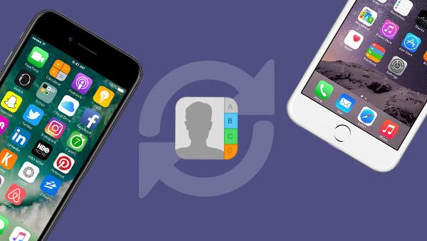 Vergleich verschiedener Möglichkeiten zum Übertragen von Kontakten von iPhone zu iPhone