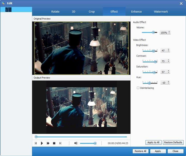 Video/Audio Datei bearbeiten
