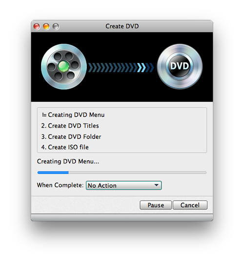 Starten Sie das Brennen ihres iMovies auf DVD