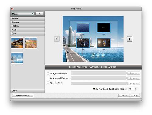 DVD Menü hinzufügen und Video individualisieren (optional)