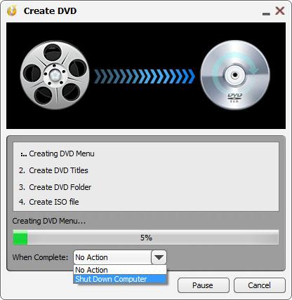 Brennen der DVD