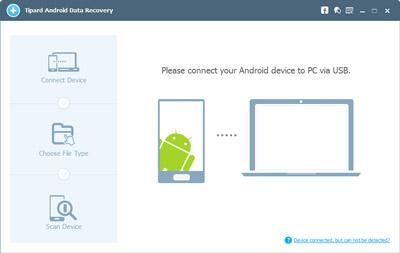 Verbinden Sie das Android-Telefon mit dem Programm