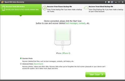 Verbinden Sie Ihr iPhone via USB Kabel