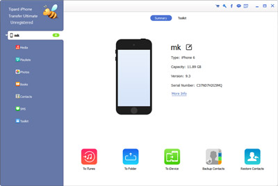Verbinden Sie ihr iPhone mit Tipard iPhone Transfer