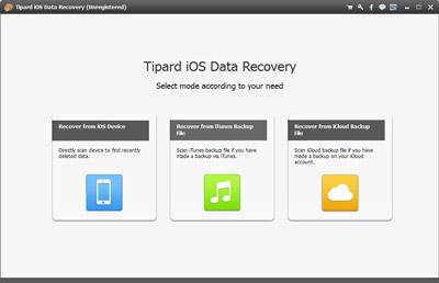 Verbinden Sie Ihr iPhone mit Tipard iOS Data Recovery