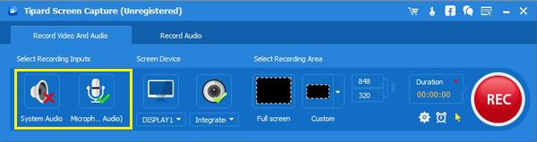 Wählen Sie die Audioquelle aus, mit der die Software arbeiten soll