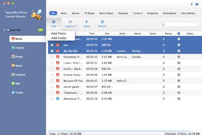 Daten vom Mac auf den iPod übertragen