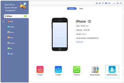 Installieren und öffnen Sie iPhone Transfer