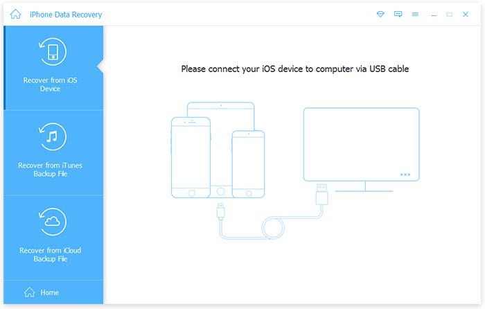 Verbinden Sie das iPhone mit dem Programm